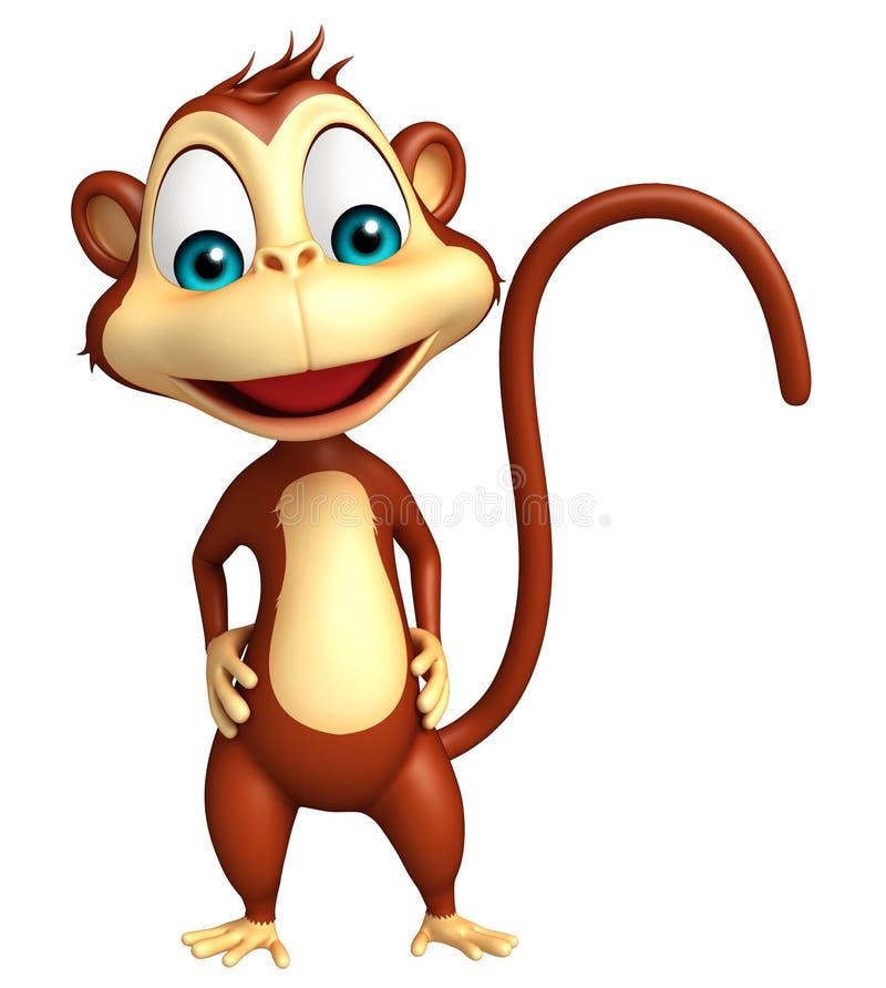 Смешной персонаж из мультфильма обезьяны иллюстрация штока