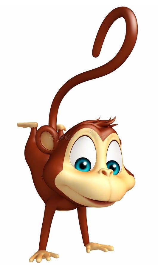 Смешной персонаж из мультфильма обезьяны бесплатная иллюстрация