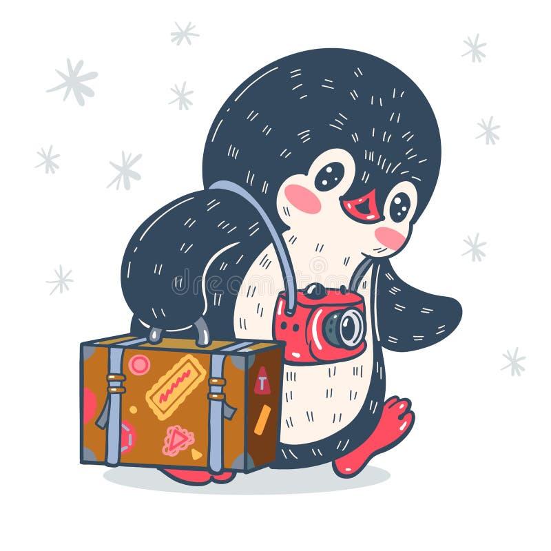 Смешной пингвин мультфильма бесплатная иллюстрация
