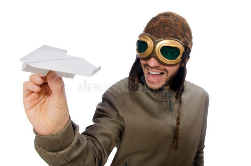 смешной пилот стоковое фото