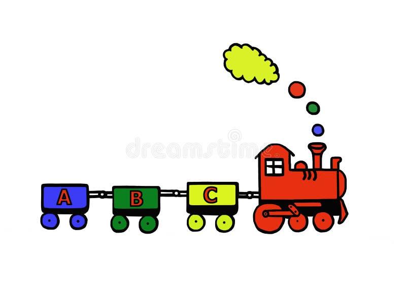 смешной поезд иллюстрация штока