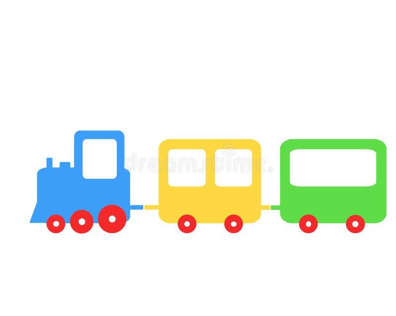 смешной поезд иллюстрация вектора