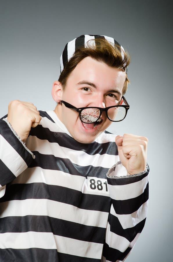 Смешной пленник в концепции тюрьмы стоковые изображения rf