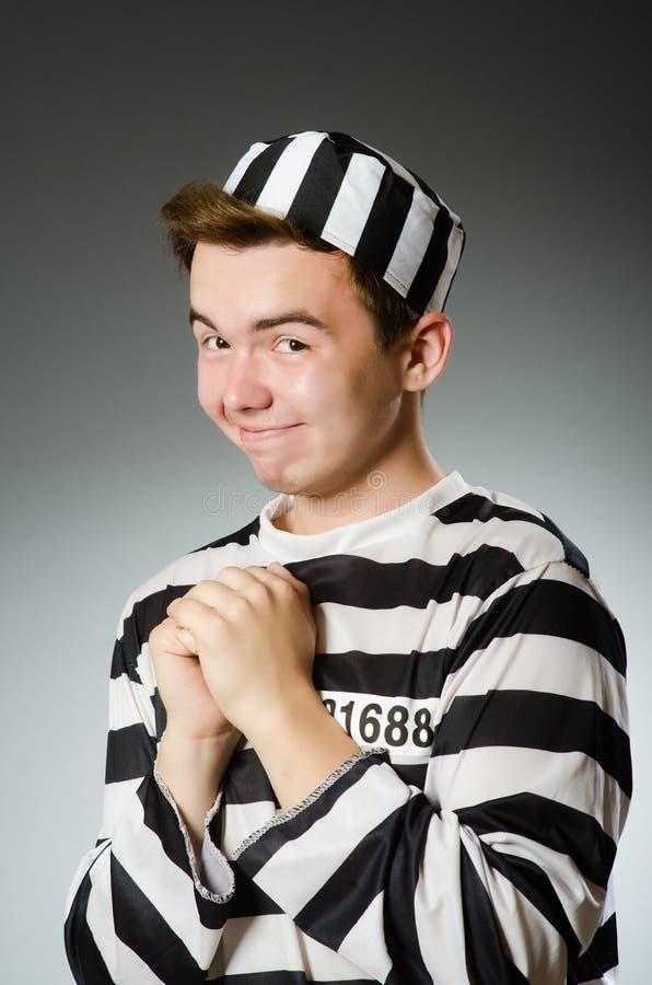 Смешной пленник в концепции тюрьмы стоковые фотографии rf