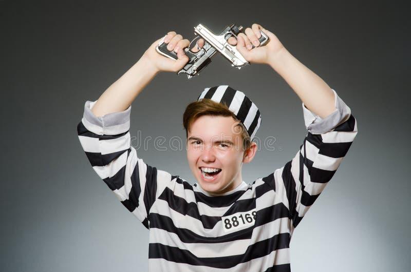 Смешной пленник в концепции тюрьмы стоковое фото rf
