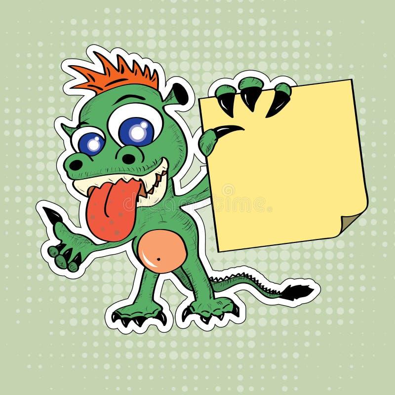 Смешной дракон стиля шаржа бесплатная иллюстрация