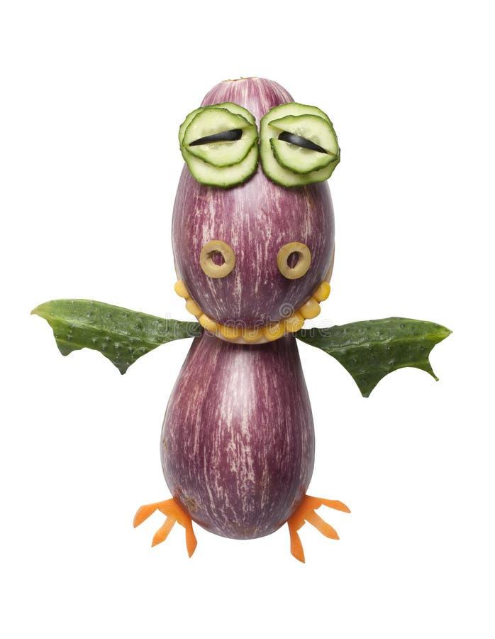 Смешной дракон сделанный овощей стоковое изображение rf