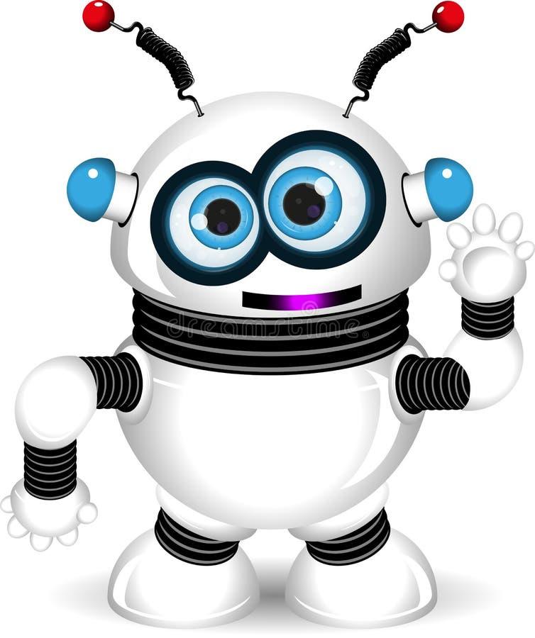 смешной робот иллюстрация штока
