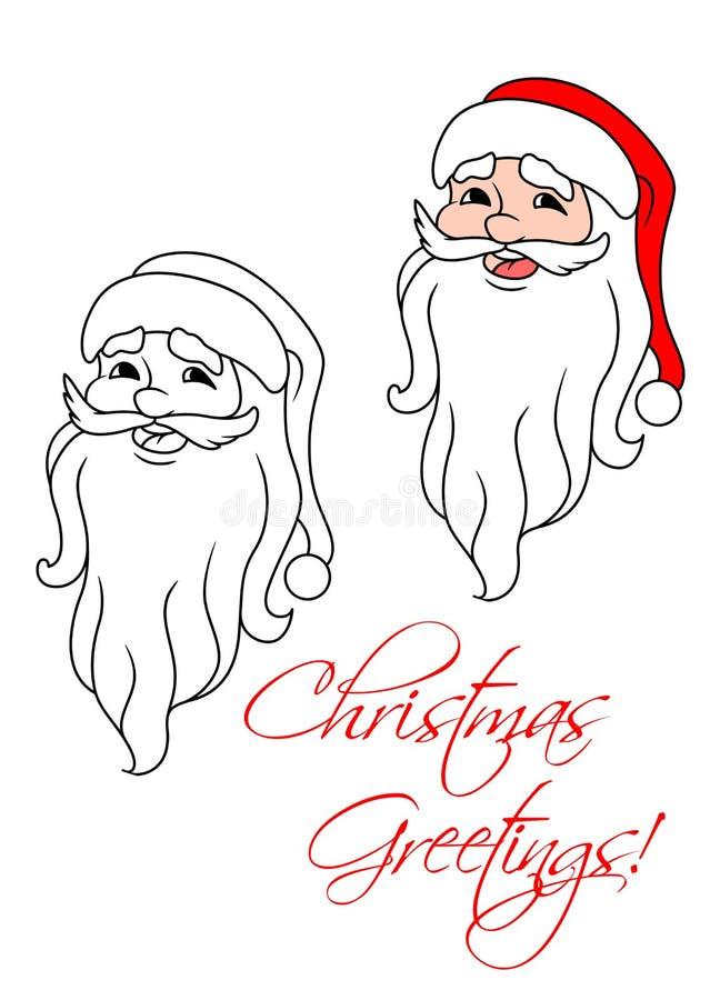 Download Смешной Санта Клаус иллюстрация вектора. иллюстрации насчитывающей характер - 33733873