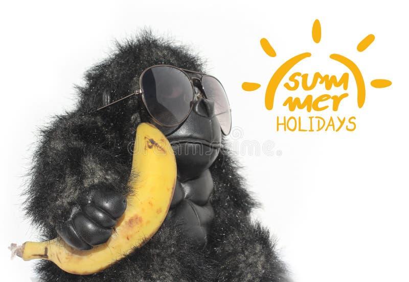 Смешной символ обезьяны и летних отпусков стоковая фотография