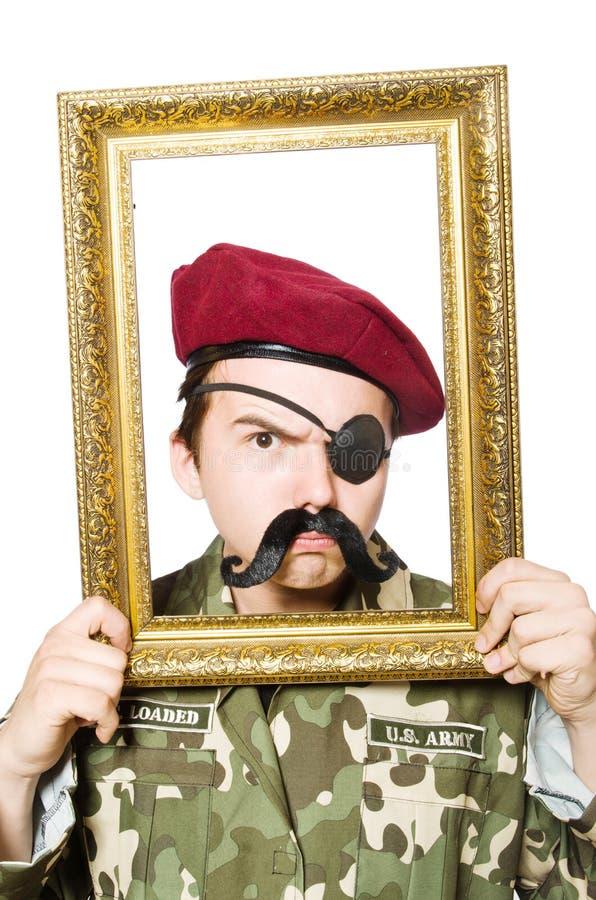 Смешной солдат стоковая фотография rf