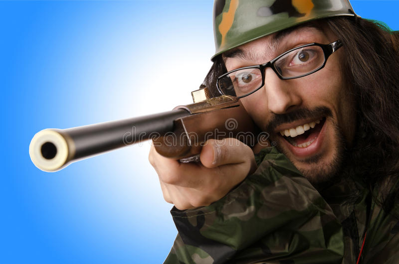 Смешной солдат стоковое изображение