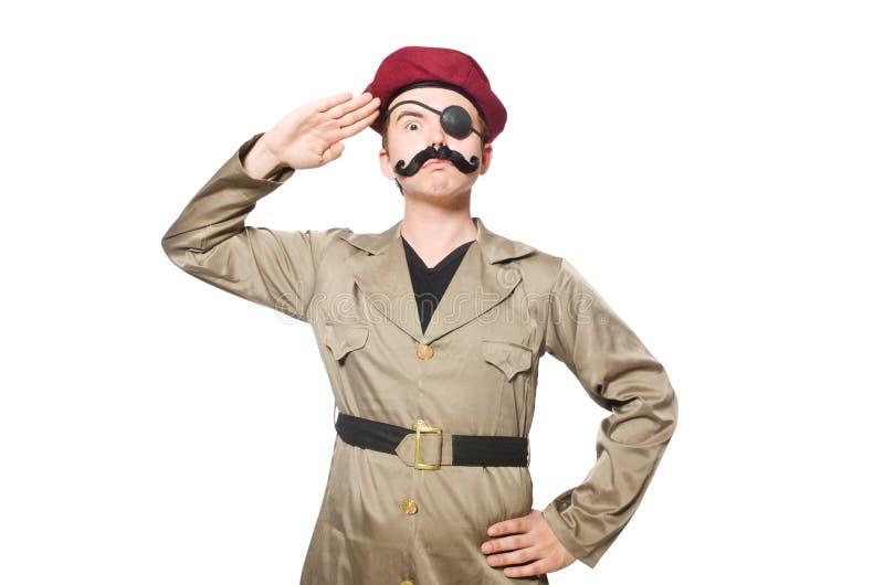 Смешной солдат стоковая фотография
