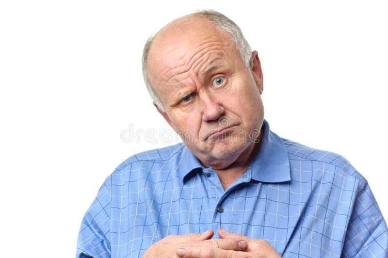 смешной старший человека стоковая фотография rf