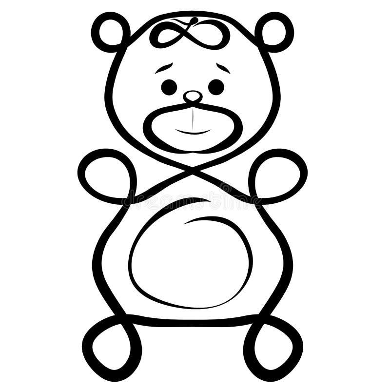 Смешной творческий плюшевый медвежонок, необыкновенный иллюстрация вектора