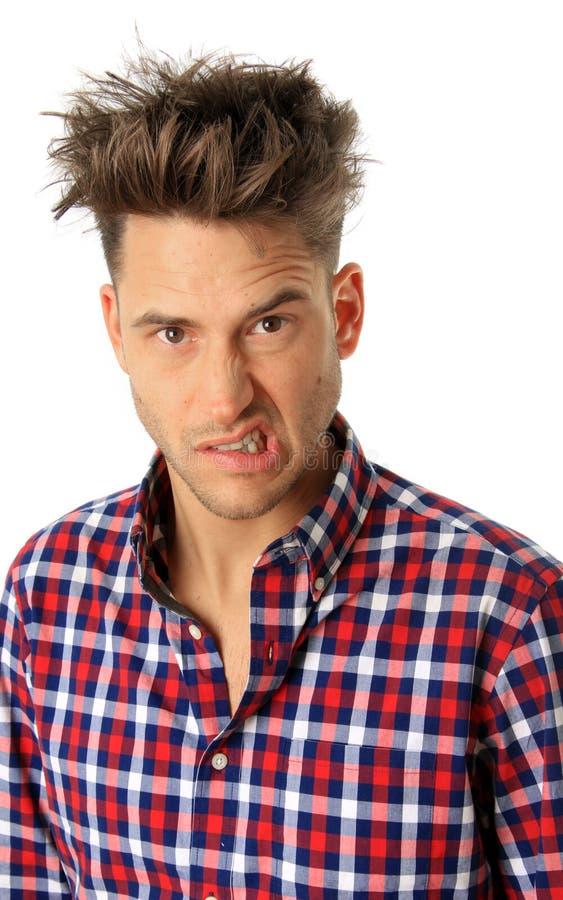 Смешной человек стороны стоковая фотография rf