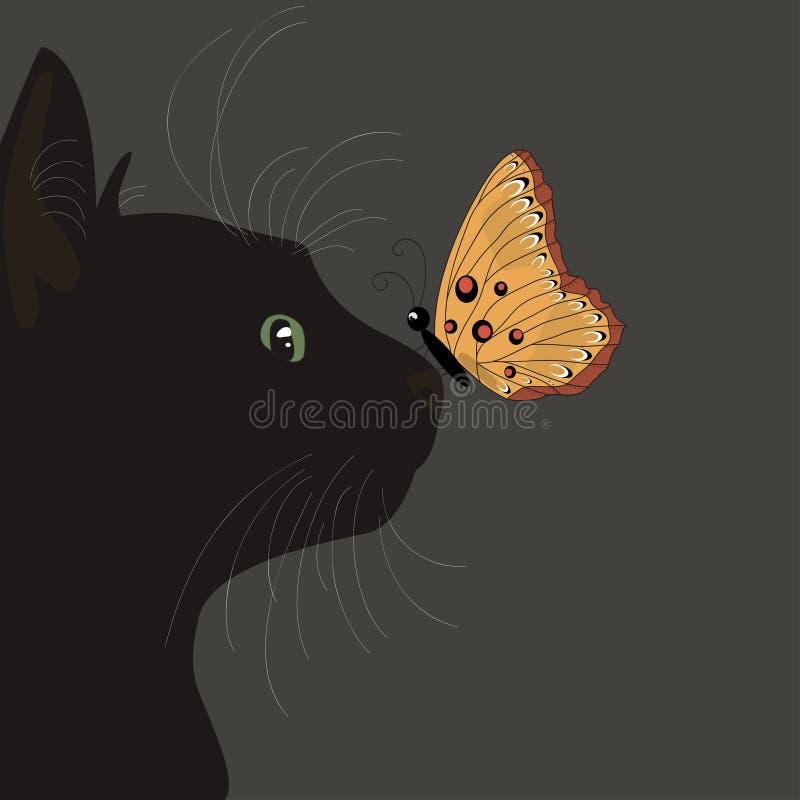 Смешной черный кот стоковая фотография