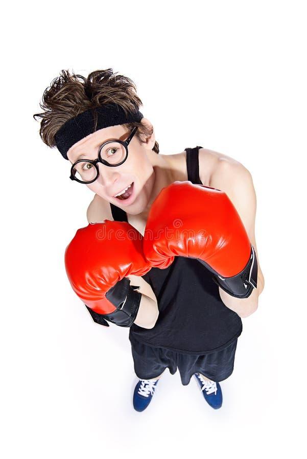 Смешной человек боксера стоковое фото rf
