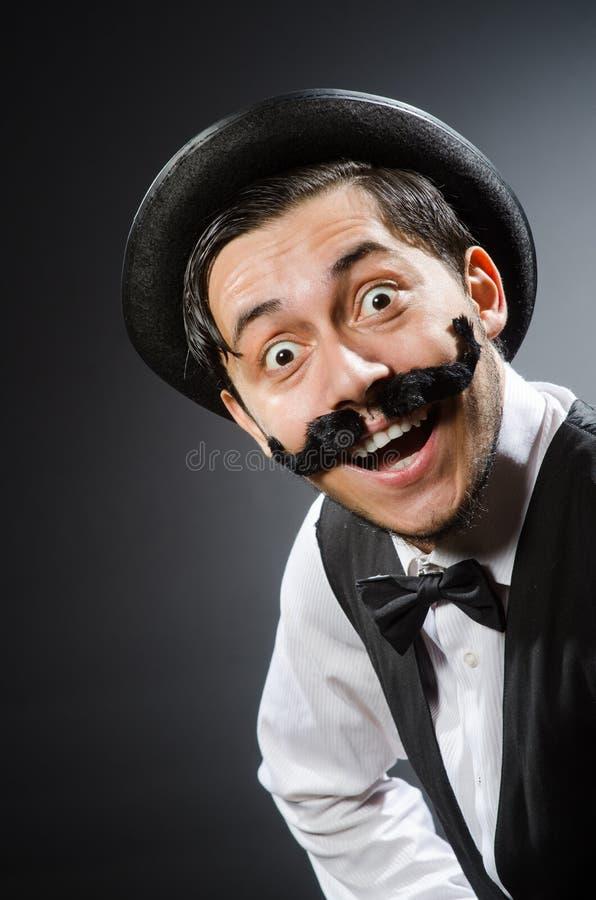 Смешной человек в винтажной концепции стоковая фотография