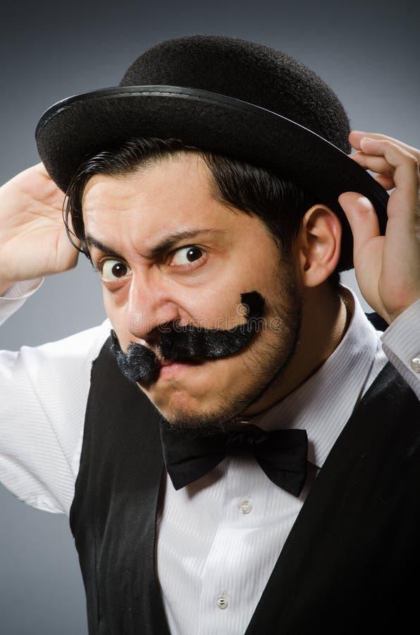 Смешной человек в винтажной концепции стоковые фото