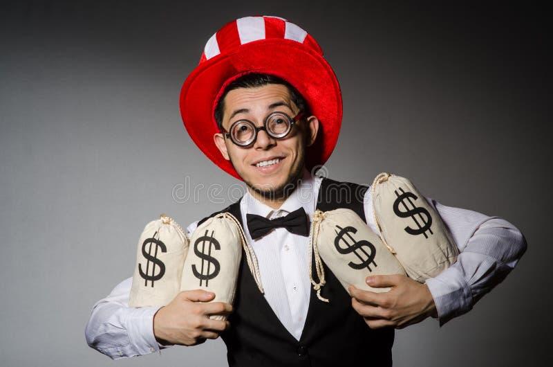Смешной человек с американской шляпой стоковое изображение