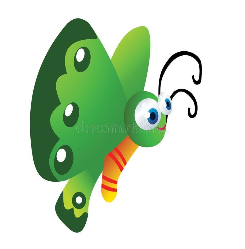 Смешной шарж бабочки иллюстрация вектора