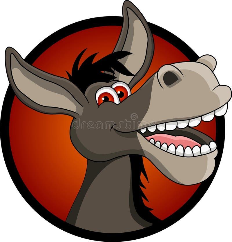 Смешной шарж головки осла