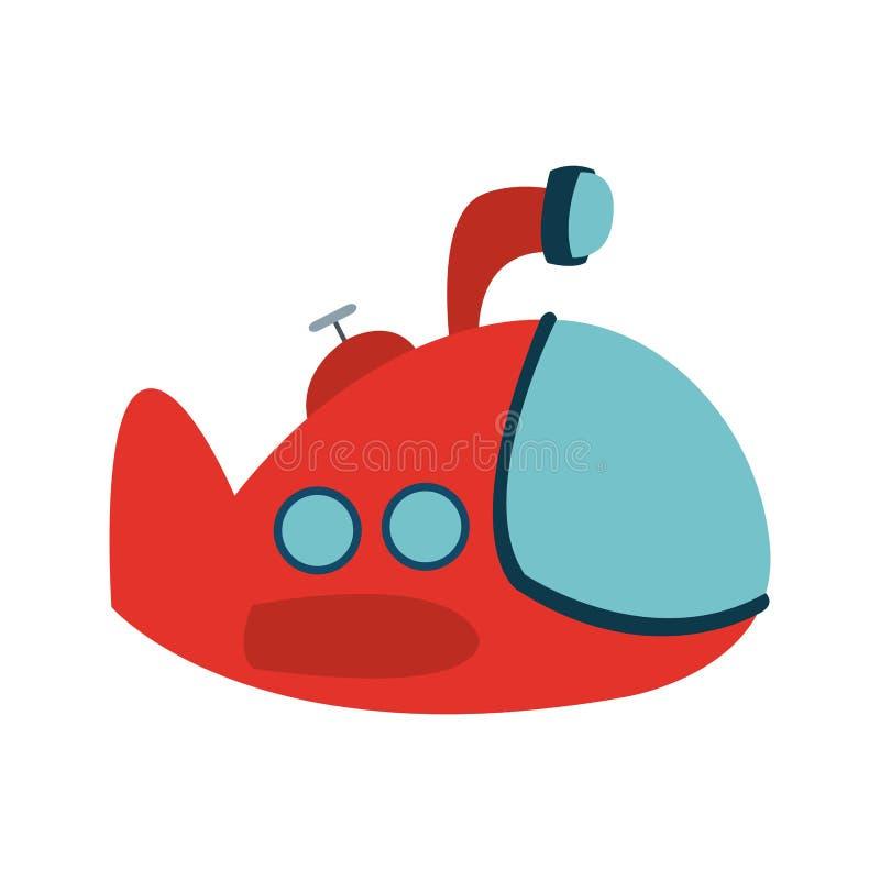 Смешной шарж подводной лодки бесплатная иллюстрация