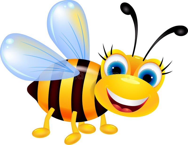 Смешной шарж пчелы иллюстрация штока