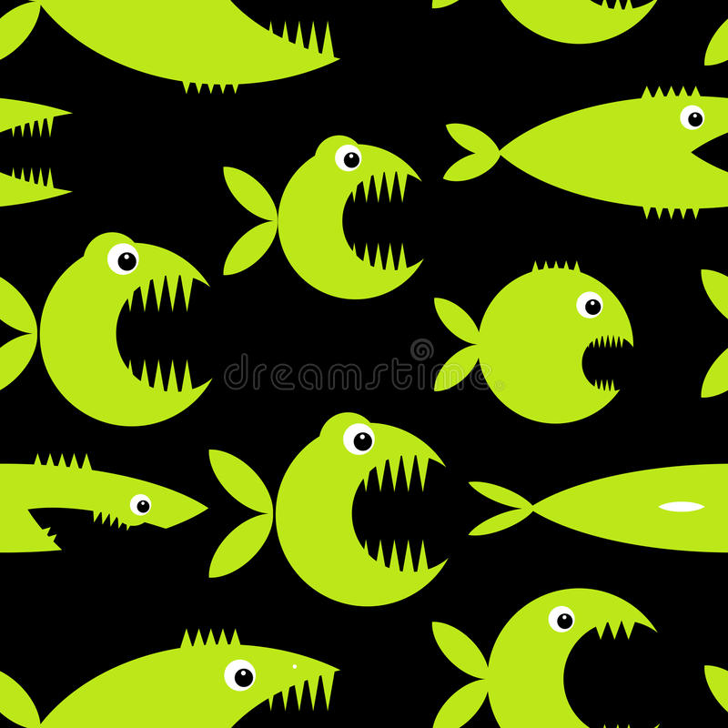 Смешной шарж рыб для вашего дизайна иллюстрация вектора
