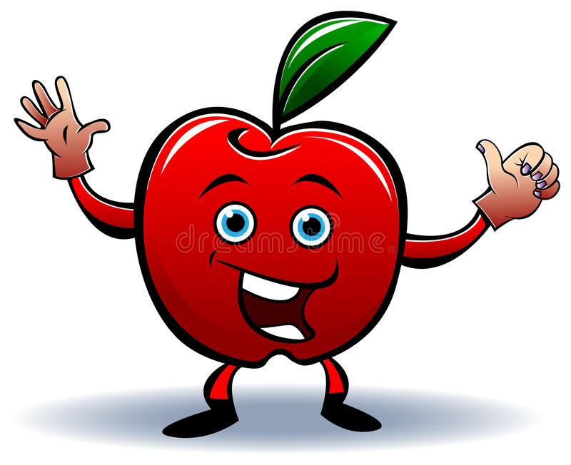 Смешной шарж яблока бесплатная иллюстрация