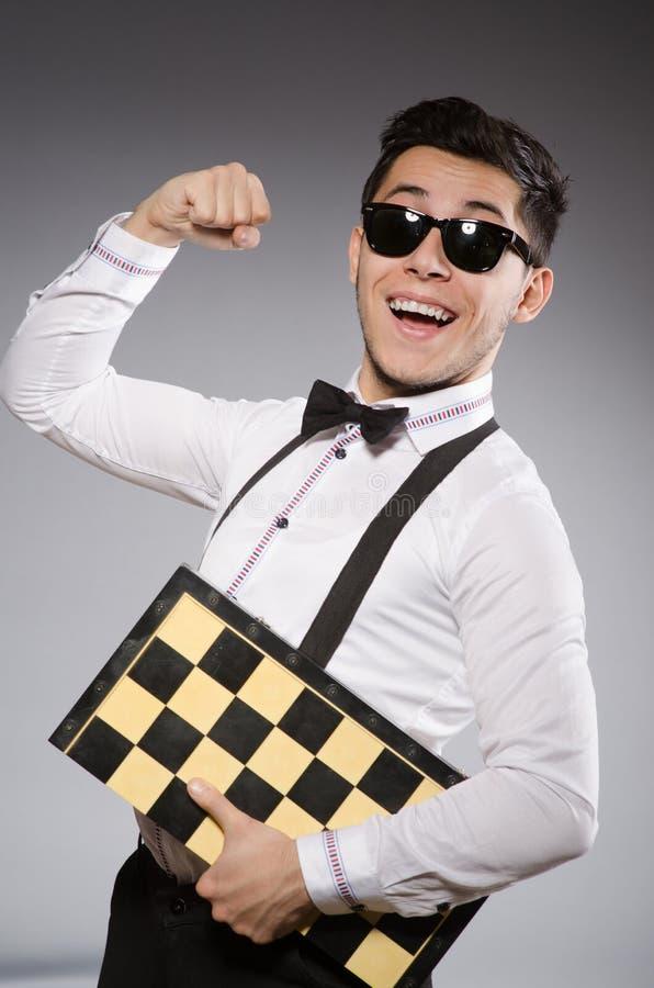 Смешной шахматист стоковые изображения rf