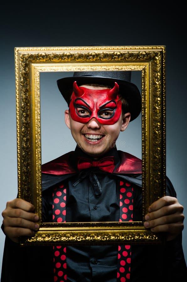 Смешной дьявол с изображением стоковая фотография