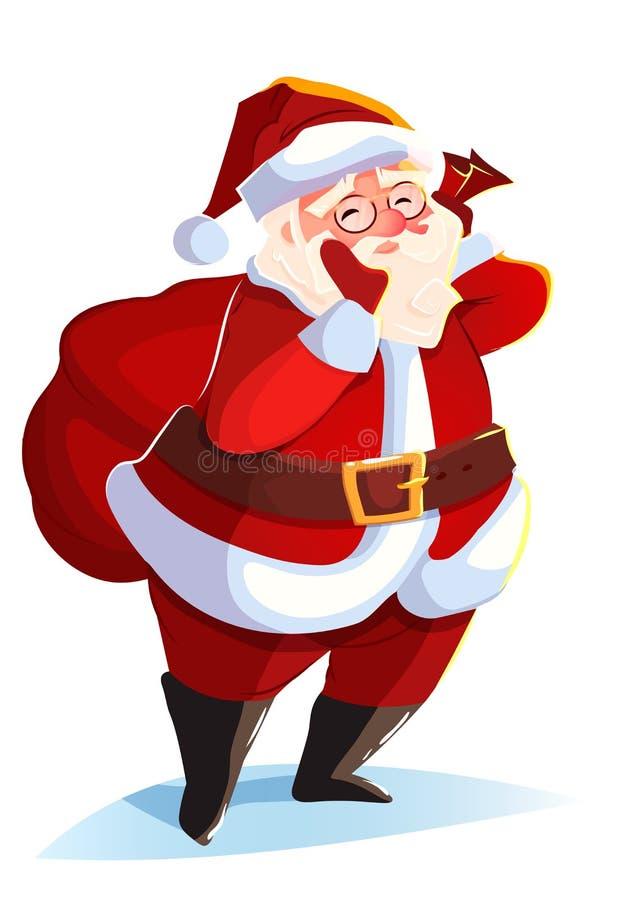 смешной santa приветствие рождества карточки бесплатная иллюстрация