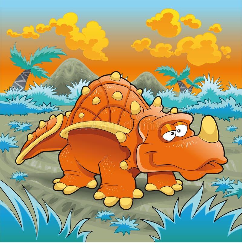 смешной triceratops иллюстрация штока