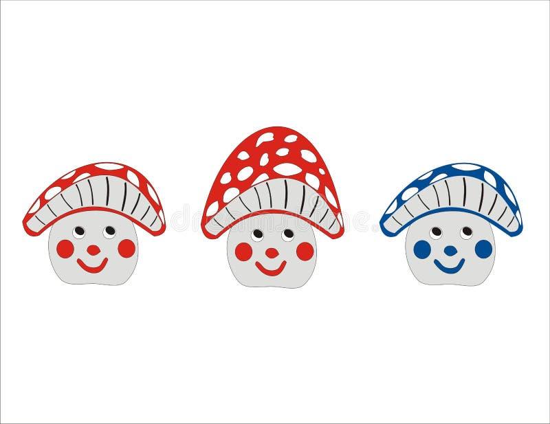 смешные грибы бесплатная иллюстрация