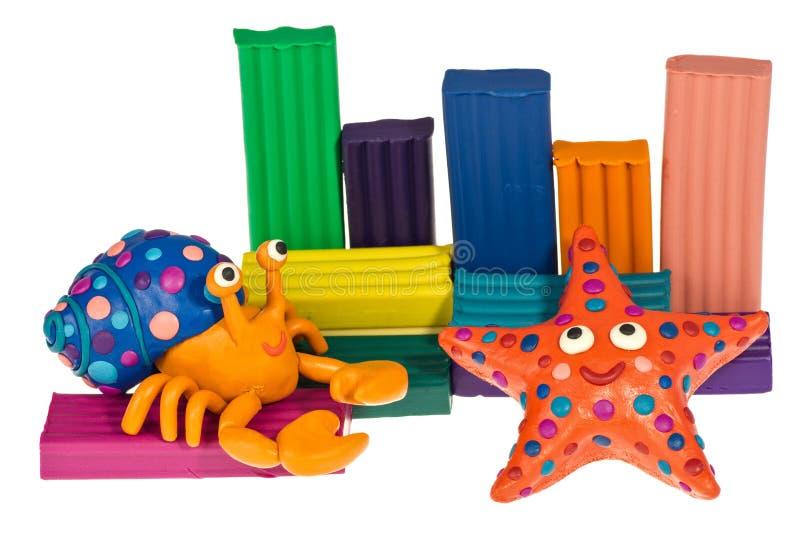 Смешные животные пластилина стоковая фотография