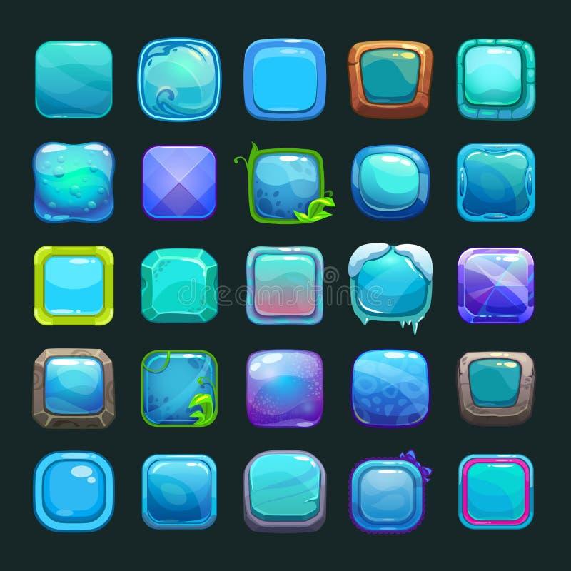 Смешные кнопки сини шаржа бесплатная иллюстрация