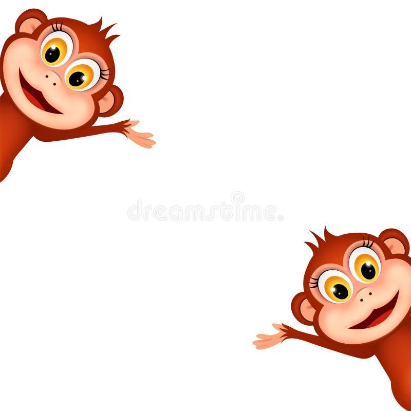 смешные обезьяны иллюстрация вектора