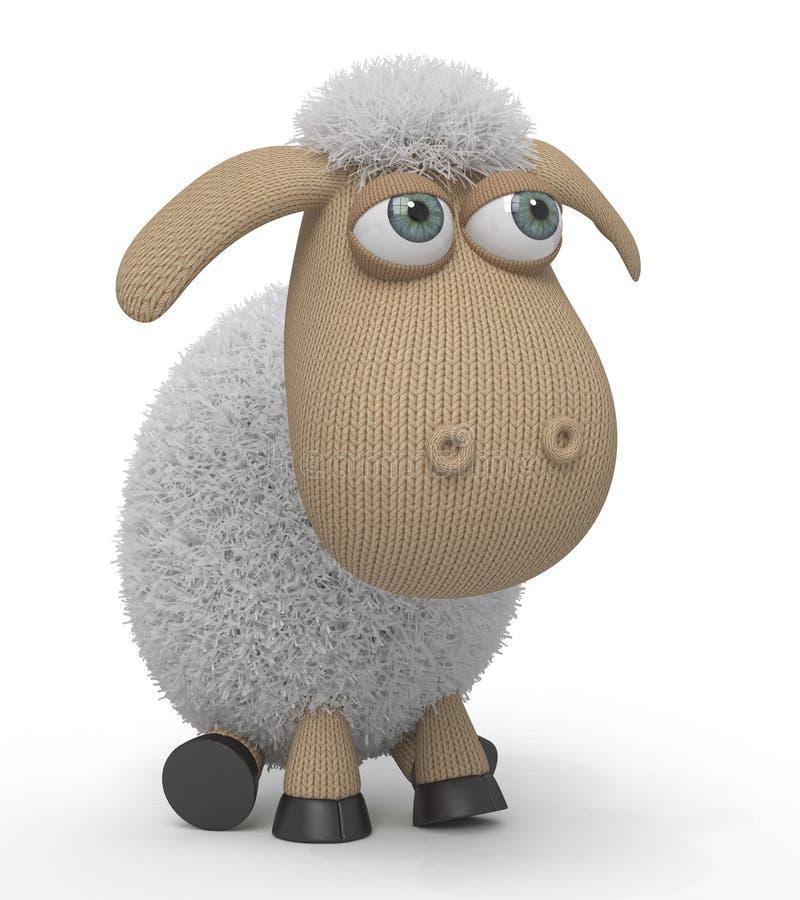 смешные овцы 3d стоковые фото