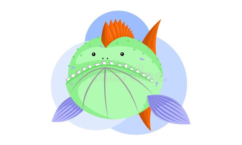 Смешные рыбы изверга иллюстрация вектора