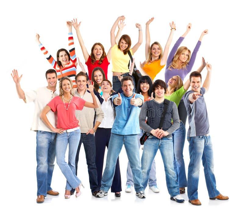 смешные счастливые люди стоковое фото