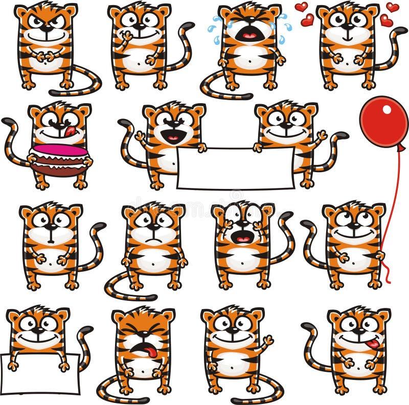 смешные тигры 1 иллюстрация вектора