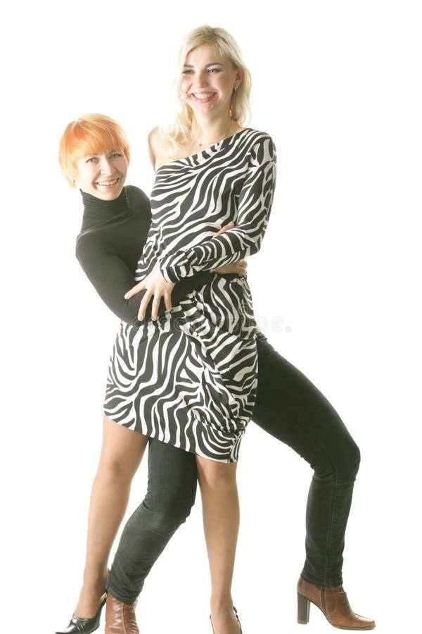 смешные 2 женщины стоковая фотография