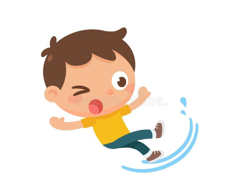 Смещая ребенк Проступь на воде бесплатная иллюстрация