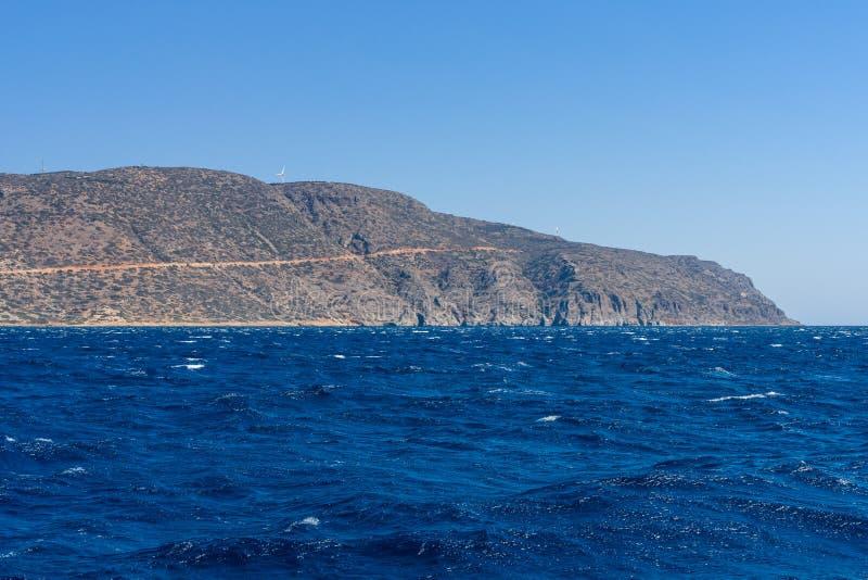 смещение удя среднеземноморскую сетчатую туну моря Крит Греция стоковые фотографии rf