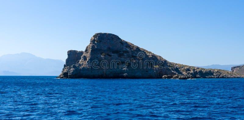 смещение удя среднеземноморскую сетчатую туну моря Крит Греция стоковые фото