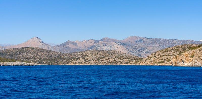 смещение удя среднеземноморскую сетчатую туну моря Крит Греция стоковая фотография