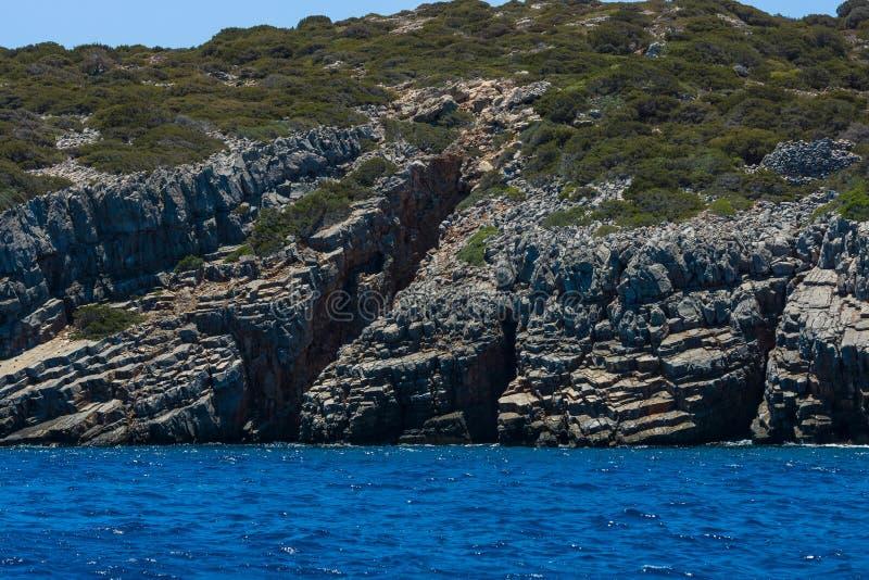 смещение удя среднеземноморскую сетчатую туну моря Крит Греция стоковые изображения