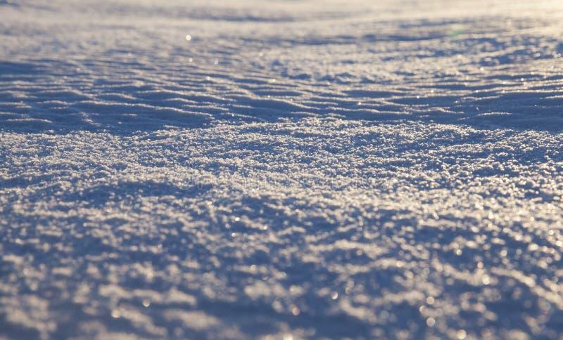 смещения белого снега стоковая фотография rf